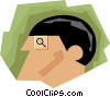 business concepts, man as investigator Vector Clip Art image