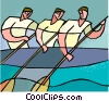 water sports, rowing Vector Clipart picture