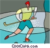 Vector Clip Art image  of a sports