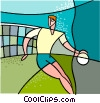 Vector Clipart image  of a sports