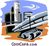 industry, oil production Vector Clip Art picture