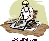 cigar making Vector Clipart image