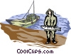 commercial fisherman Vector Clipart picture