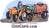harvesting potatoes Vector Clipart illustration