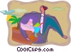 Vector Clipart graphic  of a corporate incentive travel