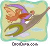 business concepts, soaring like a bird Vector Clip Art image