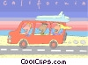 California surfers Vector Clipart image