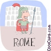 Vector Clipart picture  of a Rome