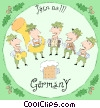 Vector Clip Art graphic  of a Germany