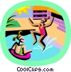 Vector Clipart image  of a summer sports