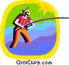 Vector Clipart picture  of a fisherman