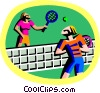Vector Clip Art image  of a racket sports