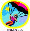 Vector Clip Art graphic  of a paragliding