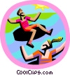 Vector Clip Art graphic  of a summer sports