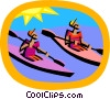 water sports, kayaking Vector Clipart picture