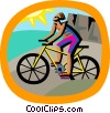 cycling Vector Clipart image