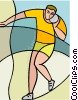 sports, track and field, shot put Vector Clipart picture