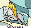 Vector Clipart graphic  of a Sports