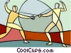 Sports, fencing Vector Clip Art picture