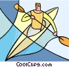 Vector Clipart graphic  of a water sports
