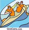 water sports, kayaking Vector Clipart illustration