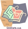 book and reading glasses Vector Clipart graphic