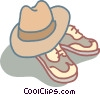 hat and shoes Vector Clipart illustration