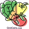 Vector Clip Art graphic  of a fresh vegetables