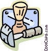 Vector Clipart illustration  of a personal shaving items