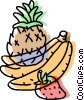 Vector Clipart image  of a fresh fruits