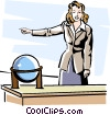 Vector Clipart image  of a teacher