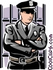 law enforcement officer Vector Clip Art graphic