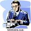 Vector Clip Art graphic  of an accountant