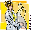 seamstress Vector Clipart illustration