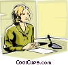 Vector Clip Art image  of a News reader