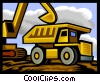Heavy equipment, dump truck Vector Clip Art graphic