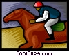 Horse racing Vector Clipart graphic