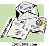 stationery, letters, correspondence Vector Clipart picture