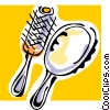 hairbrushes Vector Clipart picture