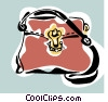 woman's purse Vector Clip Art graphic