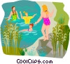 Vector Clipart graphic  of a summer sports