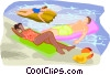 summer sports, swimming Vector Clip Art picture