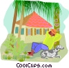 Summer holidays, relaxing Vector Clip Art picture
