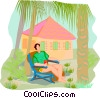 Vector Clip Art graphic  of a Summer holidays