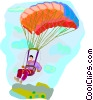 paragliding Vector Clipart graphic