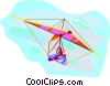 Vector Clipart illustration  of a hang gliding