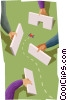 Vector Clipart picture  of a creating a path to a door