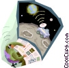 business concepts, space communications Vector Clipart graphic