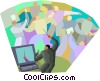 business concepts, orchestrating Vector Clip Art image