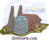 Vector Clipart graphic  of a electrical power facility